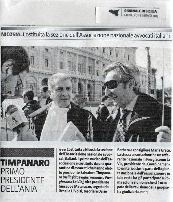 Giornale di Sicilia - 7 febbraio 2013