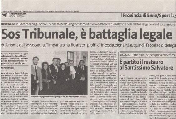 Giornale di Sicilia - giovedì 7 marzo 2013