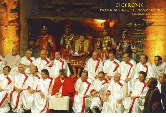 CICERONE PIETRA MILIARE DELL'AVVOCATURA - CALTANISSETTA-Teatro Baufremmont - 15 dicembre 2011 - anteprima nazionale -