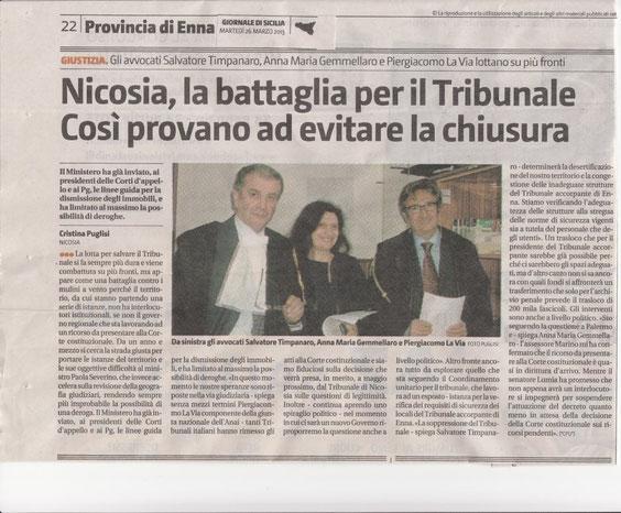 Giornale di Sicilia-Martedì 26 marzo 2013