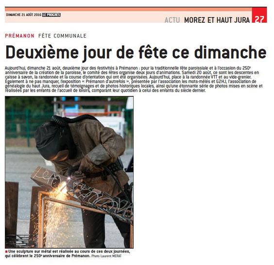 Démonstration de sculpture sur métal à Prémanon (Jura) © Michel LAURENT (MichL)