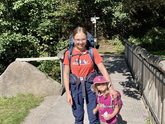 Vom Wanderparkplatz Sankenbachtal ging es los