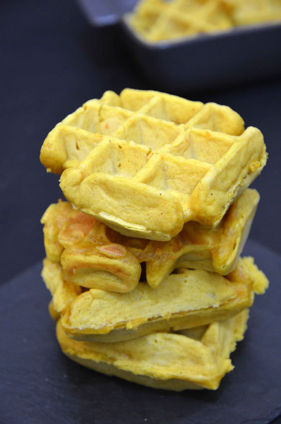 Kokos-Curry-Waffeln - vegan -