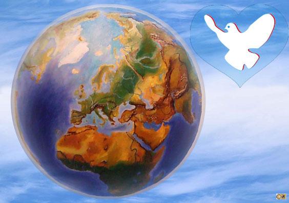 Frieden, Friedenspolitik, Collage für den Frieden