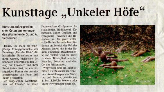 Extra-Blatt Rhein-Sieg Kulturseite + Schaufenster Bonn
