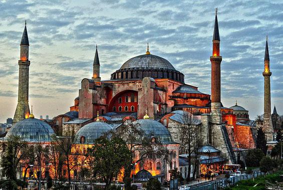 La mosquée Sainte-Sophie à Istambul en Turquie