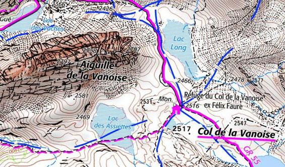 - Carte IGN - Lac des Assiettes - Depuis geoportail.gouv.fr -