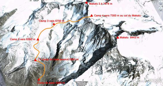 Les camps d'altitude pour le Makalu 1