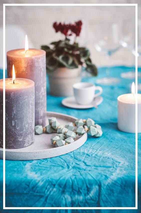 Stonecastteller BENNY und BJÖRN von Engels Kerzen. Schöne Wohnaccessoires und Dekorationsideen.
