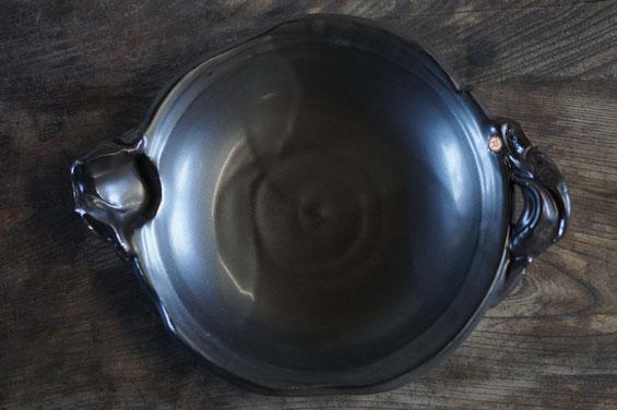 陶芸家 ブログ 茨城県笠間市 土鍋 料理 時短料理 片口深皿土鍋 素敵なデザインの土鍋 ごちそう土鍋