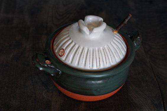 陶芸家 ブログ 茨城県笠間市 土鍋 料理 時短料理 素敵なデザインの土鍋 青銅釉