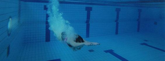 Reibungslos beim Schwimmen