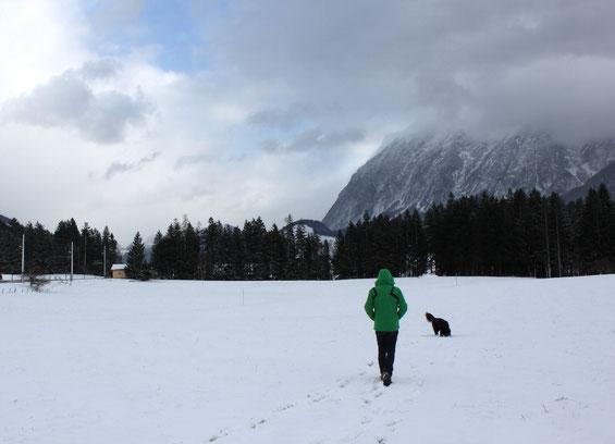 Eine Wanderung durch den Schnee ist ja auch viel schöner!