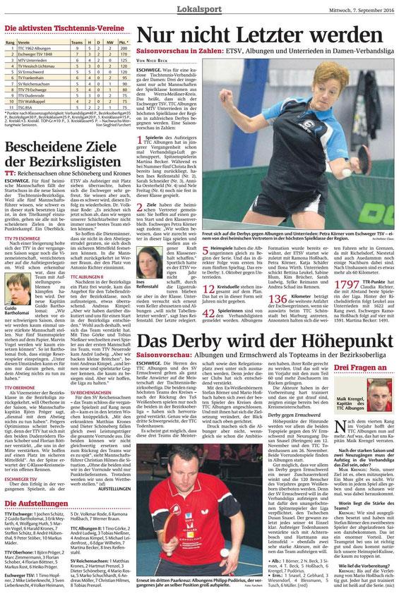 Werra-Rundschau vom 07.09.2016