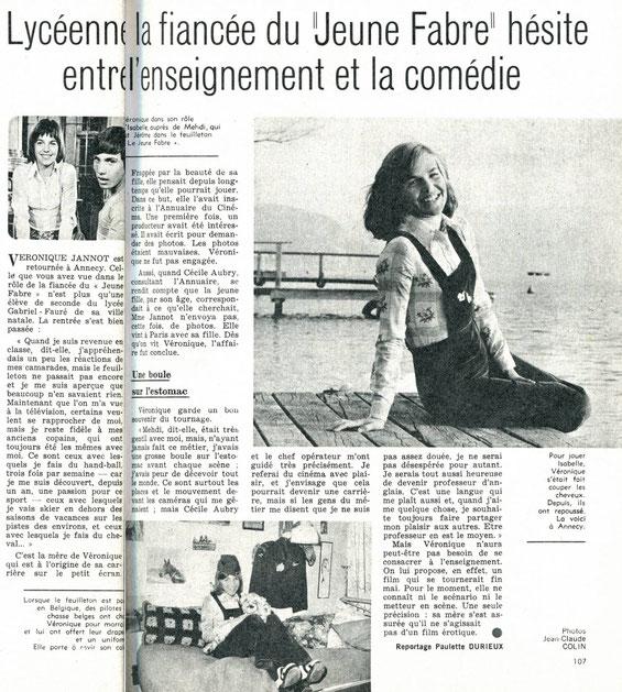 article de presse Véronique Jannot (Le Jeune Fabre Cécile Aubry)