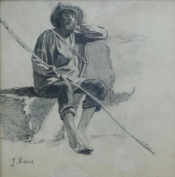te_koop_aangeboden_een_houtskool_tekening_van_de_haagse_school_kunstschilder_jacob_maris_1837-1899