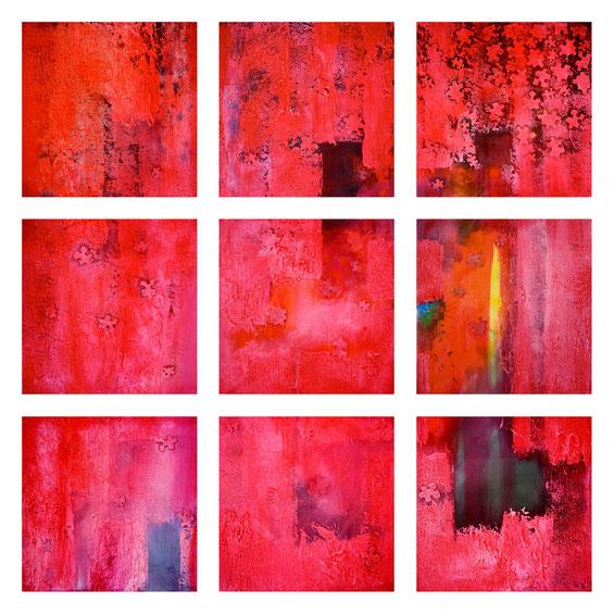 Printemps des puzzles - Polyptyque- 140 x 140 cm