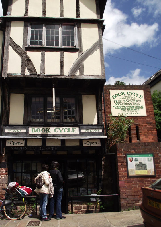Bookcycle, free books, Exeter, Devon, England.