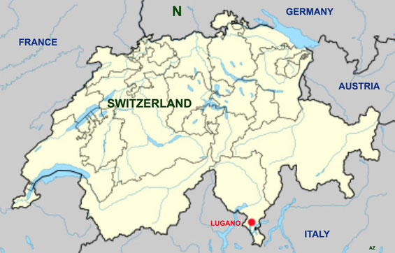 Switzerland map. Map graphics by Anthony Zois.