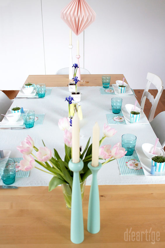 dieartigeBLOG - Tischdekoration zum Osterfrühstück | Applicata Kerzenständer