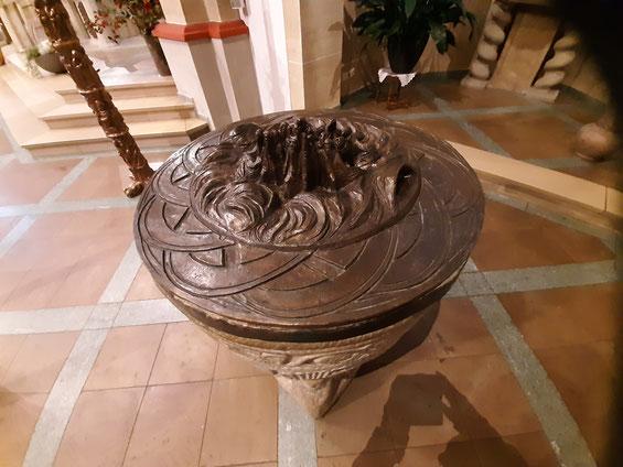 der Taufbrunnen in der St. Cyriakus-Kirche