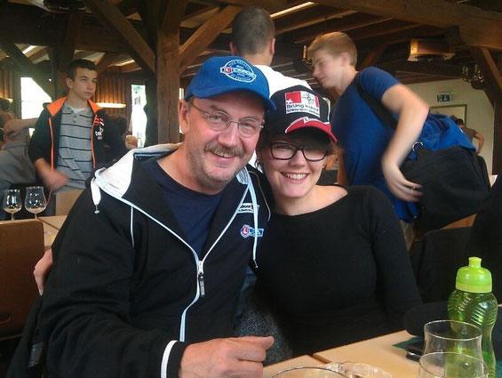 Christof Carigiet und Christine Bearth haben gut lachen, Lapua und Brünig Indoor, ein Teil des Erfolges.....