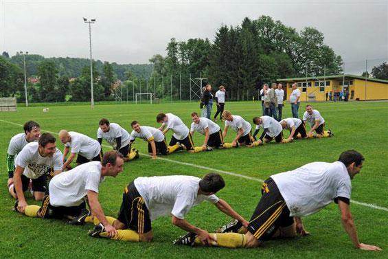 Der Aufstieg in die steirische Landesliga wurde ausgiebig gefeiert.