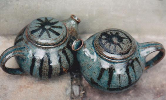 Keramik Teekanne aus Steinzeug