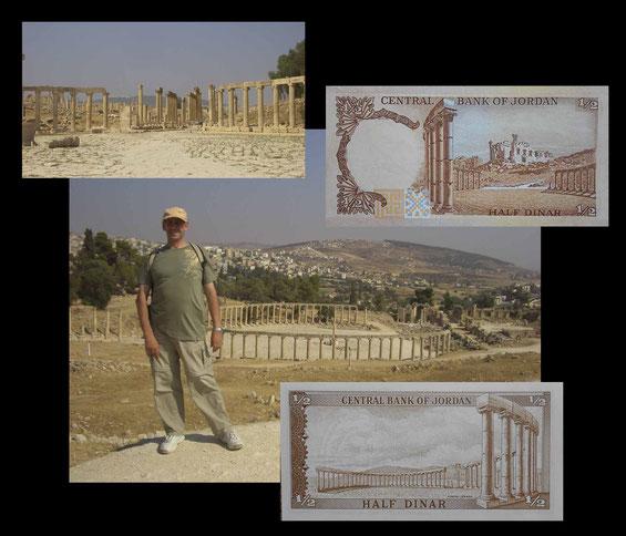 Jerash (Jordania) desde su plaza Oval