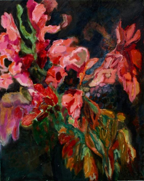 Schöne Blumen, 2019 Öl auf Leinwand 100x80