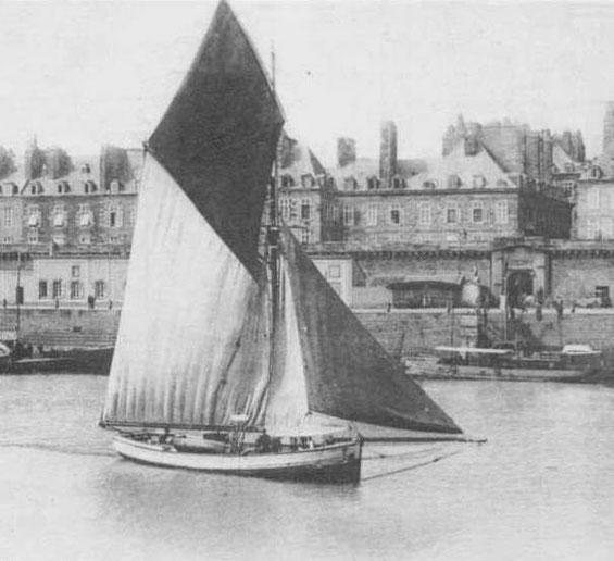 Gabare, sloup de cabotage à Saint-Malo