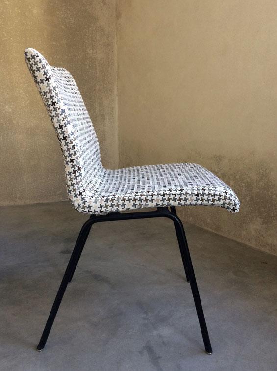 JOLI, chaise Jean-René Caillette, groupe 4, Moderniste, Gariche, Hitier, Jean Prouvé, chaise années60, chaise vintage