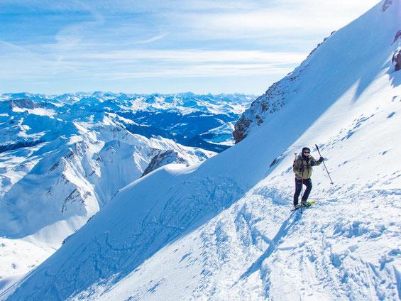 Der Schlussanstieg hinauf zum Gipfel - gleich haben wir es geschafft.