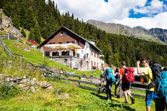 Unsere Unterkunft für das Wochenende - die Ludwigsburger Hütte