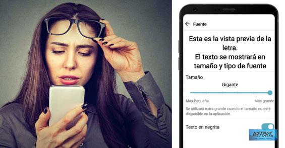 Cómo poner la letra más grande en tu móvil Android - Sigue los pasos para cambiar el tamaño de la fuente