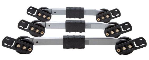 Die Mitchell-Schiene ist für die verschiedenen Altersstufen in drei verschiedenen Größen erhältlich
