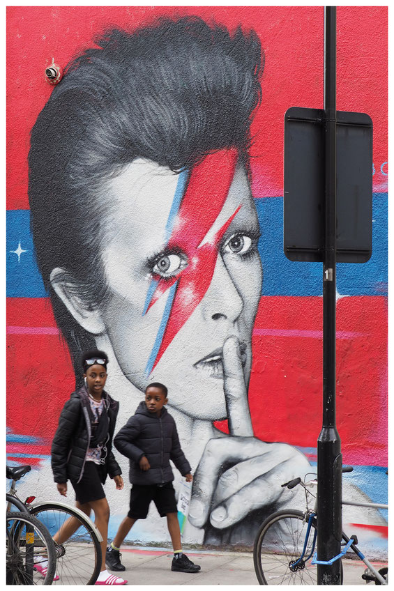 David Bowie Mural at Ada Street London