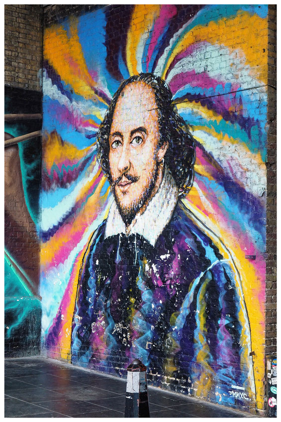 William Shakespeare Mural in London
