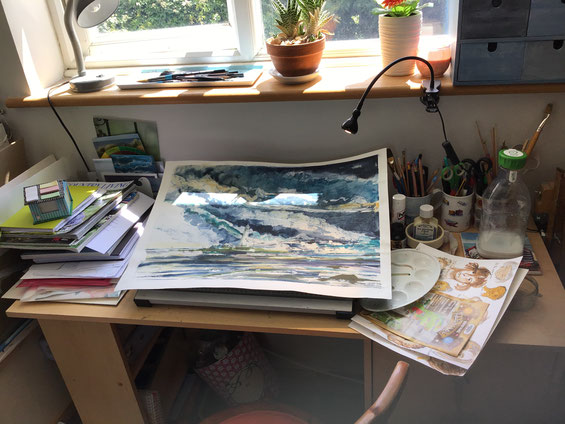 Autumn Trees Painting - Sally-Anne Adams Artist