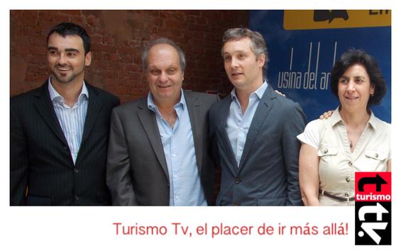 Hernán Lombardi y Fernando de Andreis Turismo Tv, televisión turística en Buenos Aires