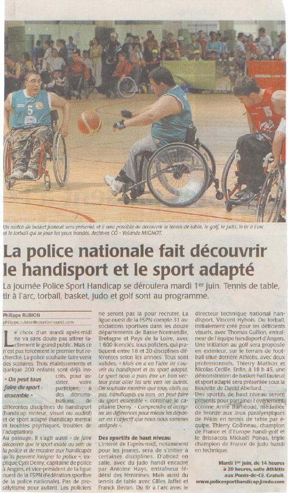 Le Courrier de l'Ouest (26/05/2010)