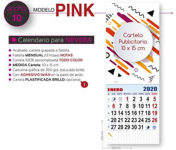 Calendario magnético para nevera