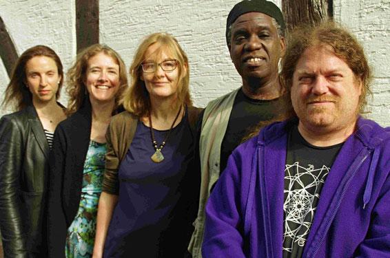 SonixExchange Quintet: Catherine Sikora Mingus, Stephanie Griffin, Ursel Schlicht, Hilliard Greene, Andrew Drury