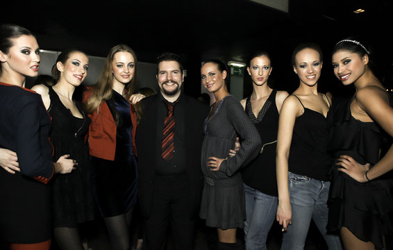 1 st Place Models director Dominik with his models at Philipp Plein Show (photo: M.Semana)