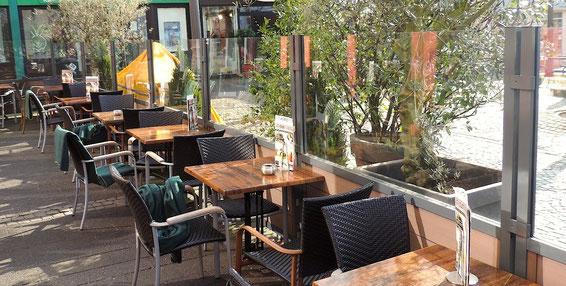 Windschutz für Gastronomie Terrasse