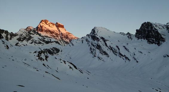 Coucher de soleil sur le Mont Viso