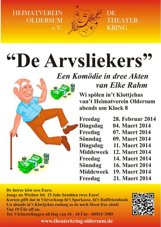 """Plakat """"De Arvsliekers"""""""