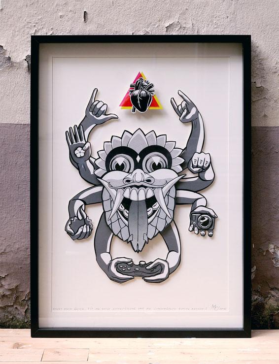 Kunstwerk achtarmiges monster