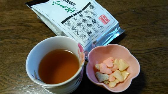 お客様からの頂き物・お茶の写真