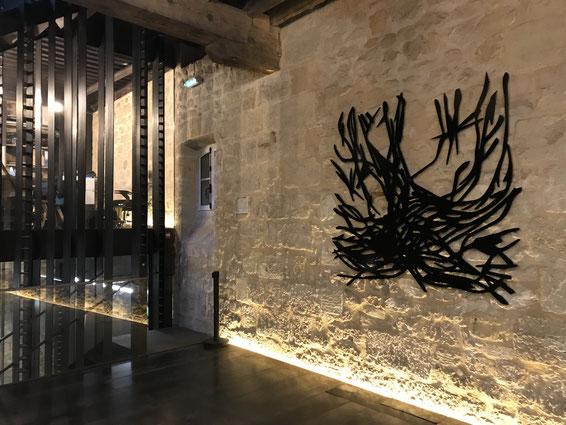 Bordeaux 2017, Le Buisson Ardent, série limitée, alumium, largeur, 180 cm, thermolaquée noire